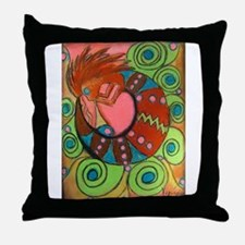 Kokopelli's Physical Healing Throw Pillow