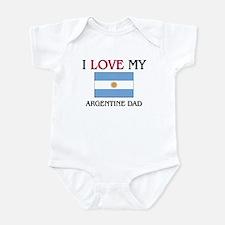 I Love My Argentine Dad Infant Bodysuit