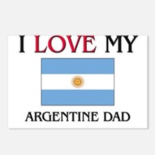 I Love My Argentine Dad Postcards (Package of 8)