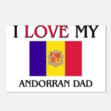I Love My Andorran Dad Postcards (Package of 8)