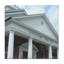 Goffstown NH Town Hall Tile Coaster