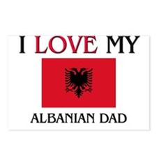 I Love My Albanian Dad Postcards (Package of 8)