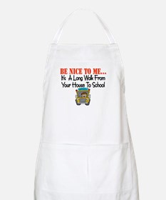be nice to me bus driver BBQ Apron