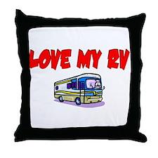 Love My RV Throw Pillow