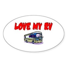 Love My RV Oval Decal