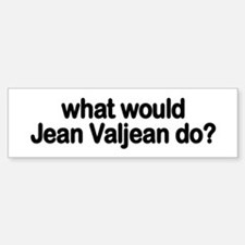 Jean Valjean Bumper Car Car Sticker