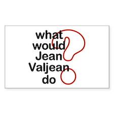 Jean Valjean Rectangle Decal