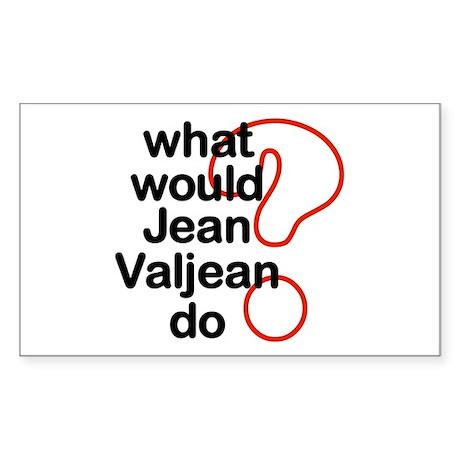 Jean Valjean Rectangle Sticker