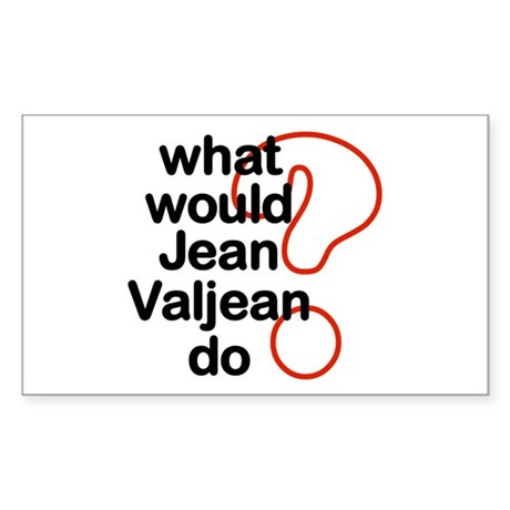Jean Valjean Rectangle Sticker 50 pk)