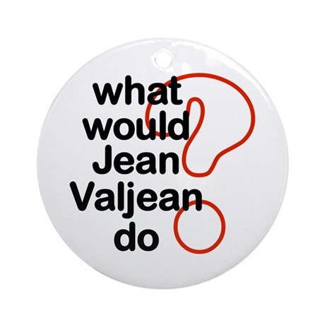 Jean Valjean Ornament (Round)