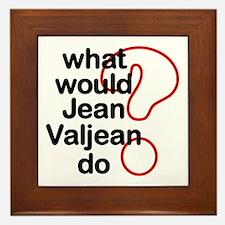 Jean Valjean Framed Tile