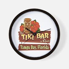 Tampa Bay Tiki Bar - Wall Clock