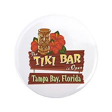"Tampa Bay Tiki Bar - 3.5"" Button"