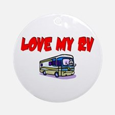 Love My RV Ornament (Round)