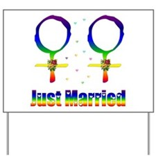 Just Married Lesbians Yard Sign