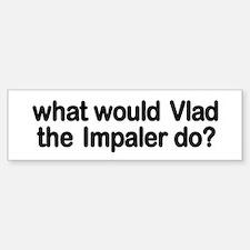 Vlad the Impaler Bumper Car Car Sticker