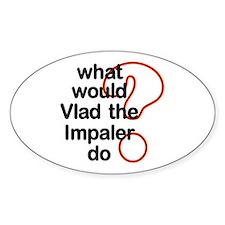 Vlad the Impaler Oval Bumper Stickers