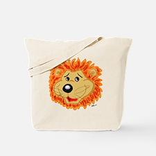 Smiling Lion Face Tote Bag