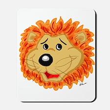Smiling Lion Face Mousepad