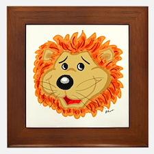 Smiling Lion Face Framed Tile