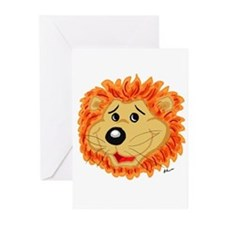 Smiling Lion Face Greeting Cards (Pk of 20)