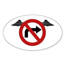 No Rights Oval Decal