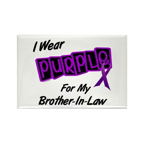 I Wear Purple 8 (Brother-In-Law) Rectangle Magnet