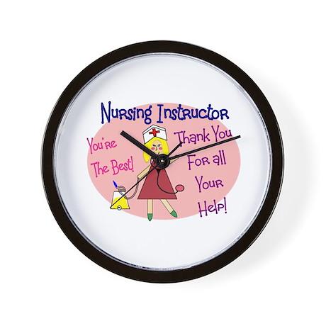 Nursing Instructor Wall Clock