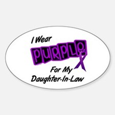 I Wear Purple 8 (Daughter-In-Law) Oval Decal