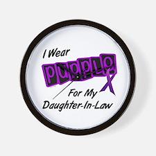 I Wear Purple 8 (Daughter-In-Law) Wall Clock