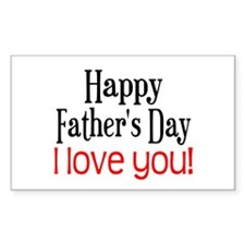 Happy Father's Day Rectangle Decal