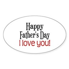 Happy Father's Day Oval Decal