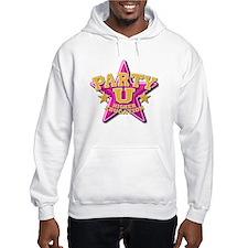 Party U/(pink star) Hoodie