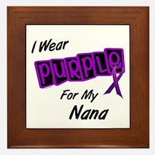 I Wear Purple For My Nana 8 Framed Tile