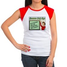 Apostrophes are for Possessives Women's Cap Sleeve