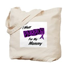 I Wear Purple For My Mommy 8 Tote Bag
