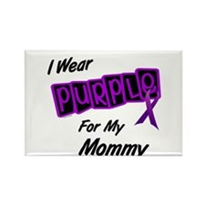 I Wear Purple For My Mommy 8 Rectangle Magnet