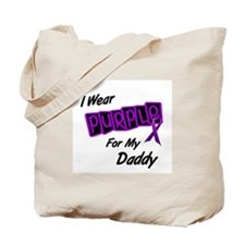 I Wear Purple For My Daddy 8 Tote Bag