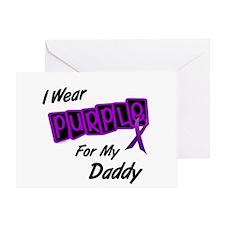 I Wear Purple For My Daddy 8 Greeting Card