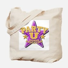 Party U/(purple star) Tote Bag