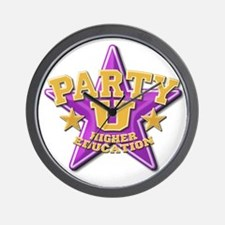 Party U/(purple star) Wall Clock