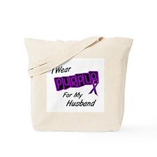 I Wear Purple For My Husband 8 Tote Bag