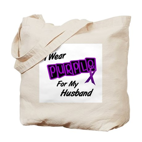I Wear Purple For My Husband 8 Tote Bag