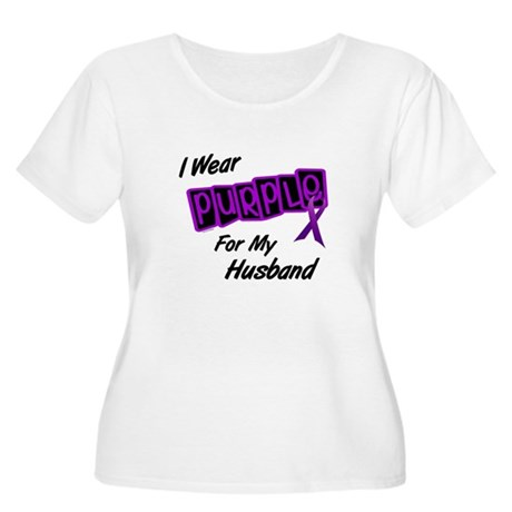 I Wear Purple For My Husband 8 Women's Plus Size S