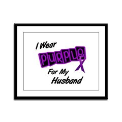 I Wear Purple For My Husband 8 Framed Panel Print