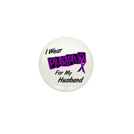 I Wear Purple For My Husband 8 Mini Button (10 pac