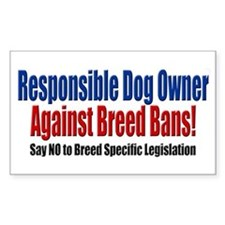 Responsible Dog Owner Rectangle Decal