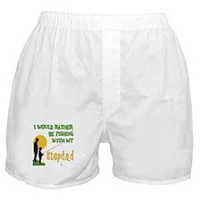 Fishing With Stepdad Boxer Shorts