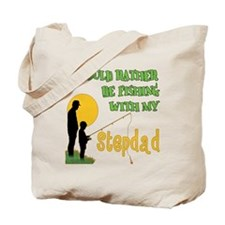 Fishing With Stepdad Tote Bag