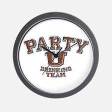 Party U/Drinking Team (brown) Wall Clock